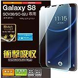 エレコム Galaxy S8 フィルム 液晶保護フィルム 画面の隅から隅までしっかり保護できるフルラウンド設計 衝撃吸収 防指紋 光沢 PM-GS8FLFPRG