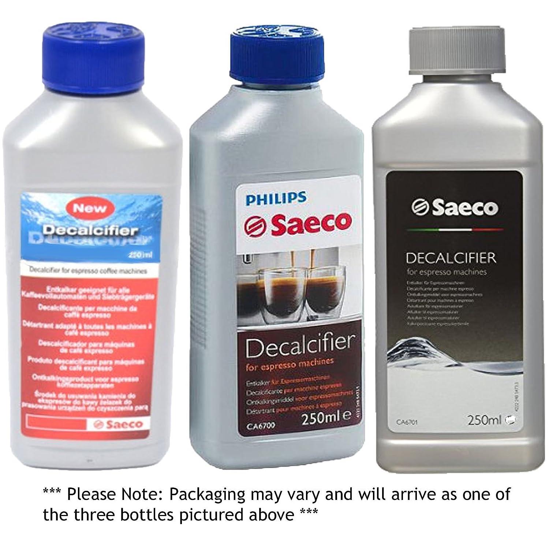 spare2sgo cartuchos de filtro de agua y Philips máquina de café Descalcificador Desincrustante Solución de líquido (250 ml) (2, líquidos): Amazon.es: Hogar