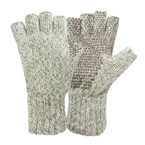1de773dcf8c25 Amazon.com: Hot Shot Men's Ragg Wool Fingerless Glove, Oatmeal, One ...