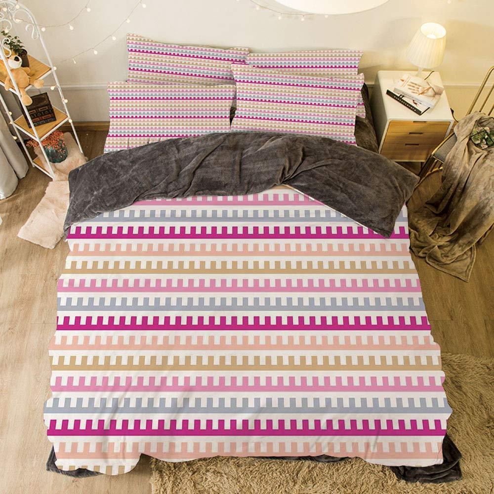 iPrint フランネル布団カバー4点セット ベッドリネン 冬休み柄 カラフルで色付き 大きなドット柄 繰り返し模様 ファンキーなグラフィックイラスト マルチカラー bed width 6.6ft(200cm) BotFLR_Hei_04459_2mCalif king B07LCP3CC7 カラー19 bed width 6.6ft(200cm)