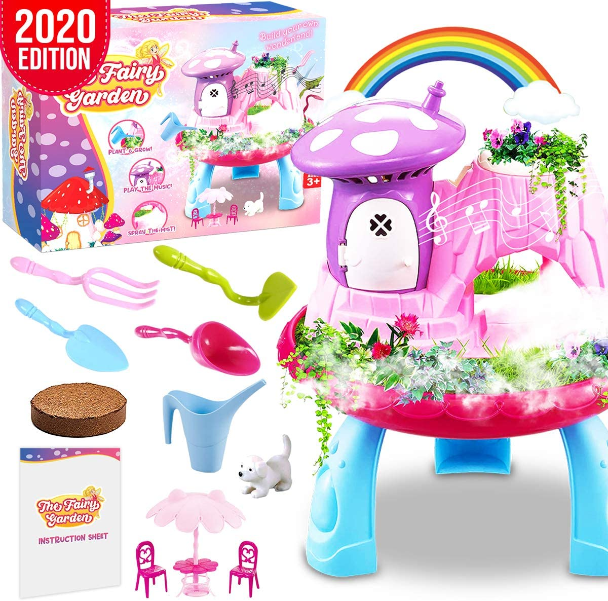 Insnug Fairy Garden Decor Craft Kits - Arts and Crafts for Kids Age 3 4 5 6 7 8 Year Old Toddler Girl Boy Toys Educational Science Toy Gifts for Indoor Outdoor kit Kids Activity Gardening Tool Set