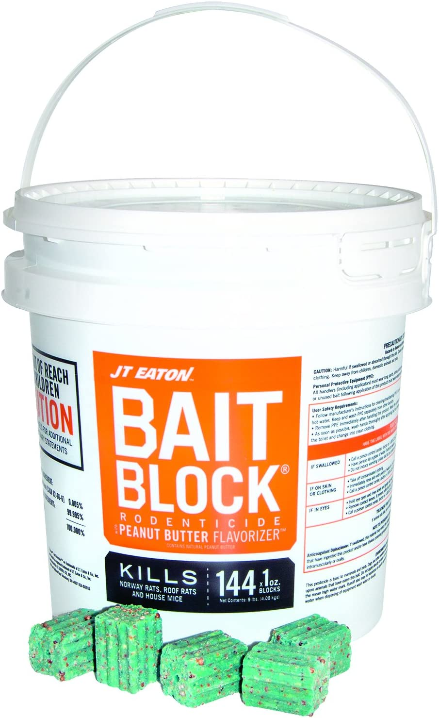 JT Eaton Bait Block Rat Poison Anticoagulant Bait