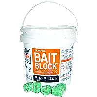 JT Eaton 166004 709-PN Bait Block Rodenticide Anticoagulant Bait, Peanut Butter...