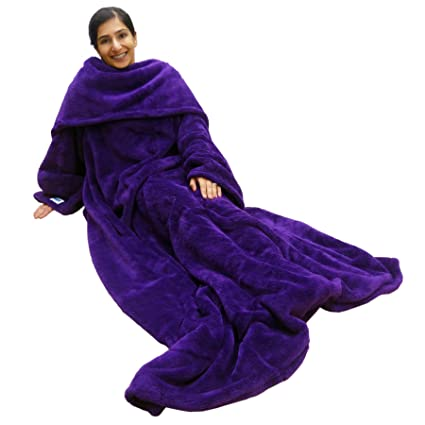 b4f994cc40 Image Unavailable. Image not available for. Color  Ultimate Slanket -  Purple Sleeved blanket with Sleeves