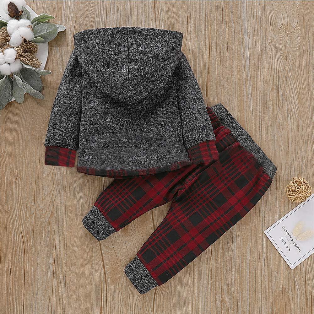 per bambini da 0 a 24 mesi con maniche lunghe LZH Set di abbigliamento invernale 2 pezzi