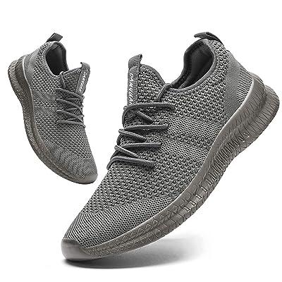 Mens Slip-on Sneakers Lightweight Athletic Running Walking Gym Tennis Shoes US