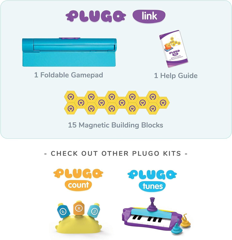 App-basiert Letters /& Link Alter 5-10 Jahre Interaktives Spielzeug P/ädagogisches Geschenk Jungen /& M/ädchen Count Puzzles /& Spiele Shifu Wortbau Mathematik Magnetbl/öcke Plugo MINT-Pack