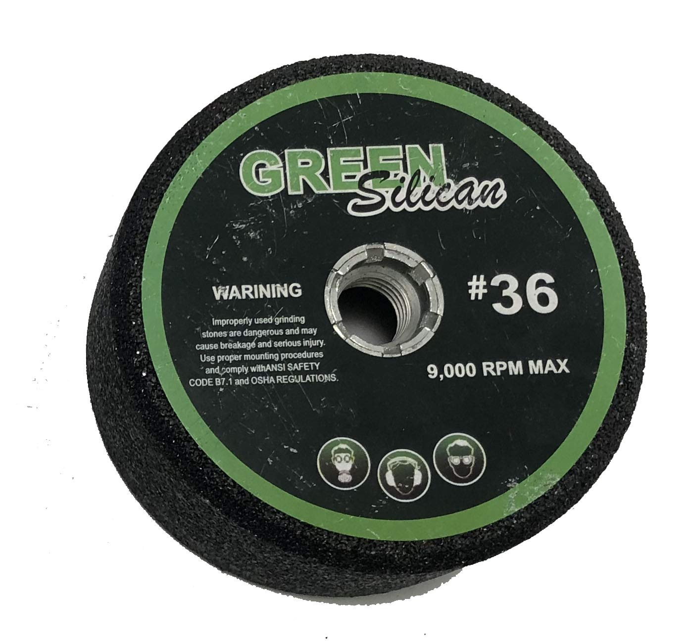 4'' Green Silicon Carbide Grinding Stones (36 Grit, 5)
