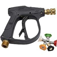 """StoneBanks Hogedrukreiniger Gun met 5 Stks Kleur Spray Nozzles, 4000PSI 1/4 """"Quick Release Snow Foam Gun, M22 Metrische…"""