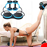 Abdominal Wheel Multi-Functional Exercise Fitness AB Roller Wheel for Abdominal Exercise Fitness Pull Rope Twist Weight Training Exercise Equipment