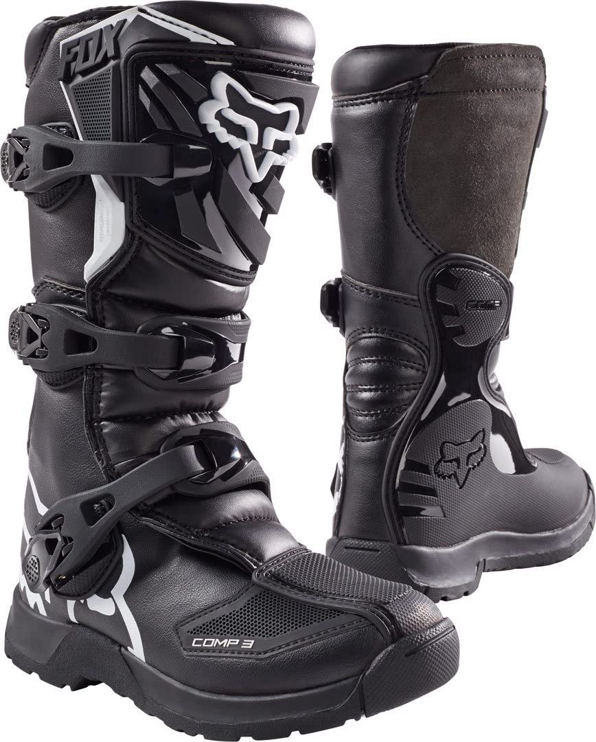 Fox Racing COMP 3Y Boot, Black, 6 Little Kid: Sports & Outdoors