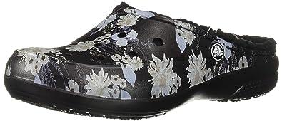 Size 4.0 Crocs Women/'s Freesail Floral Lined ClogIndoor Black//Floral