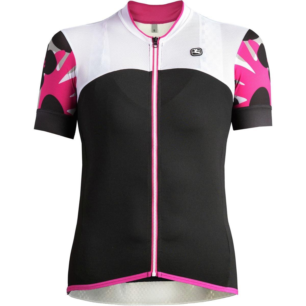 Giordana Lungo Short-Sleeve Jersey - Women's Black/White/Fuchsia, XS