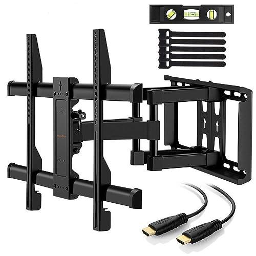 """Perlegear PGLFK1-E - Soporte de pared giratorio, articulado e inclinable para pantallas de 37-70"""" LCD OLED Plasma Televisores de Pantalla Plana, Cable HDMI Y Nivel de Burbuja Incluidos"""