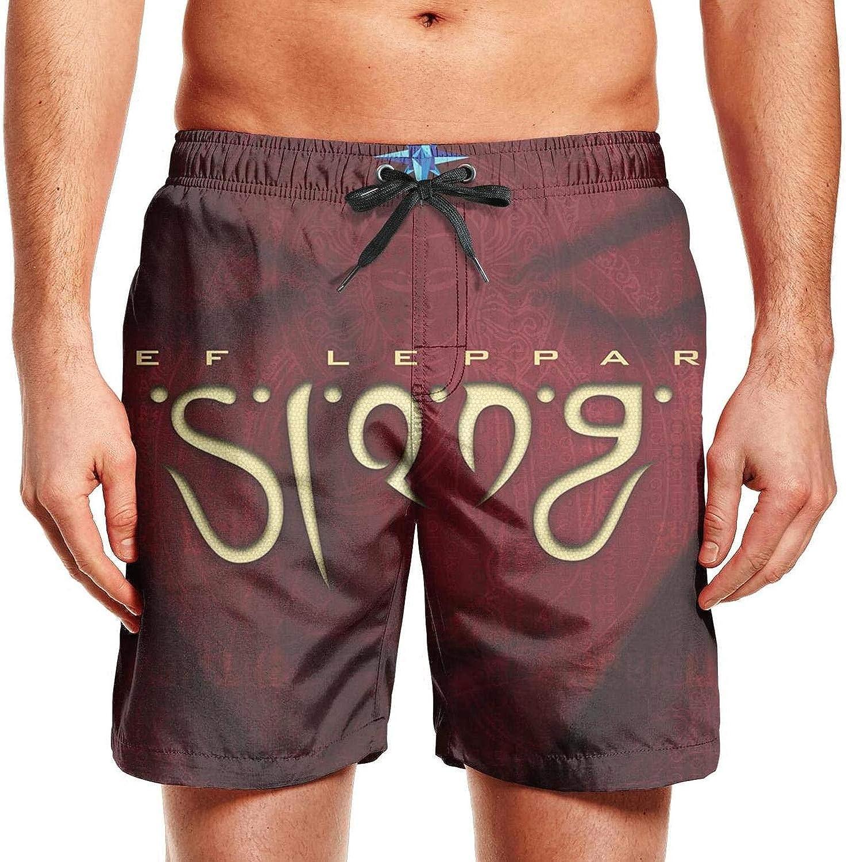 Mens Beach Shorts Classic Music Swimming Trunks Jogging Vacation Beachwear