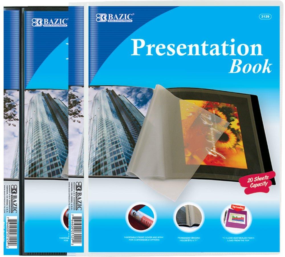 BAZIC 10-Pockets Presentation Book (Case of 24)