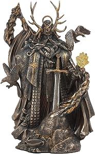 Ebros Mystic Arthurian Legend Wizard Merlin With Excalibur Sword Statue Magic Fire Prophet Powerful Sorcerer Of King Arthur Figurine