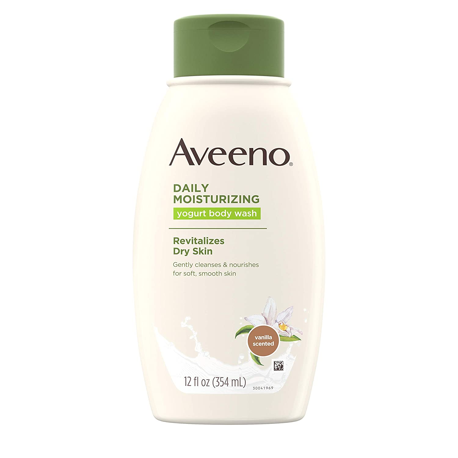 Aveeno Daily Moisturizing Yogurt Body Wash for Dry Skin with Soothing Oat & Vanilla Scent, Gentle Body Cleanser, 12 fl. oz ( Pack of 3)