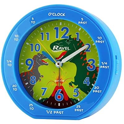 TimeLine Press, LLC Quartz Alarm Clock, 16x7x16 cm, Blue: Home & Kitchen