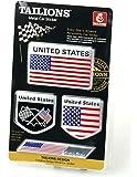 【ノーブランド品】アメリカ 国旗 アルミ製 プレート ステッカー ラベル エンブレム 4枚 セット