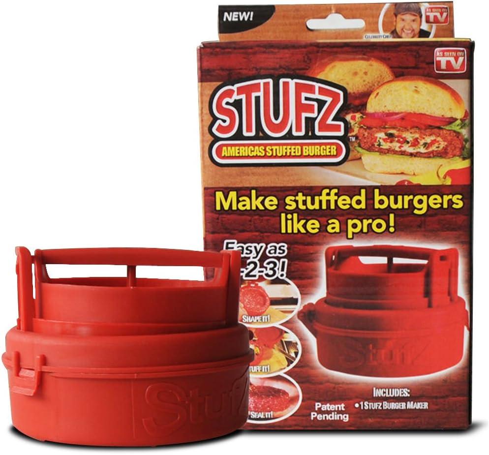 Amazon Com As Ontv Xm00099 Stufz Stuffed Press Sealed Sliders Regular Burgers Pat Red Garden Outdoor