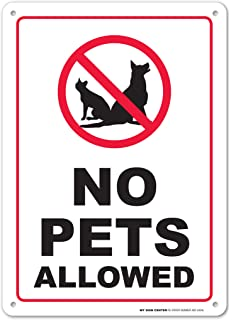 photograph regarding No Pets Allowed Sign Free Printable named No Animals Permitted Signal, 10x14 Rust Absolutely free .40 Aluminum UV