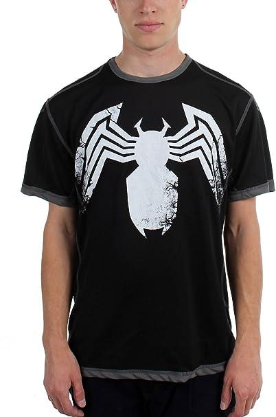 Venom – para hombre patas de madera de Aumentada Poly de malla camiseta
