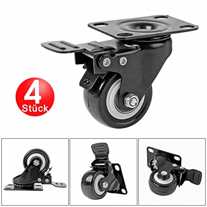 4 pieza ruedas con freno Ruedas de transporte giro ruedas ruedas para muebles (unidad rollo
