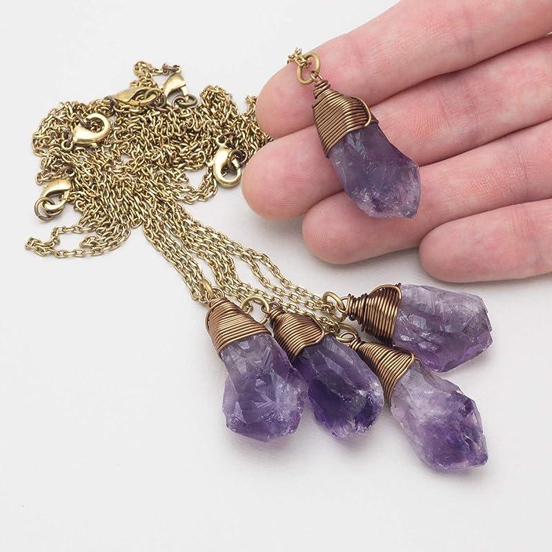 Solid Brass Pendant Jewelry Fine Handmade Amethyst Quartz Gemstones Brass /& Gold Plated Jewelry Ii1-15