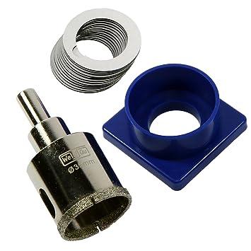 Premium Diamantbohrer 35 mm mit Führung und Wasserkühlung. Diamant-Lochsäge für Küchenarmaturen und Bohrungen im Sanitärberei