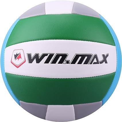 Volleyball - Balón de Voleibol de Playa, Talla 5 (Verde/Gris ...