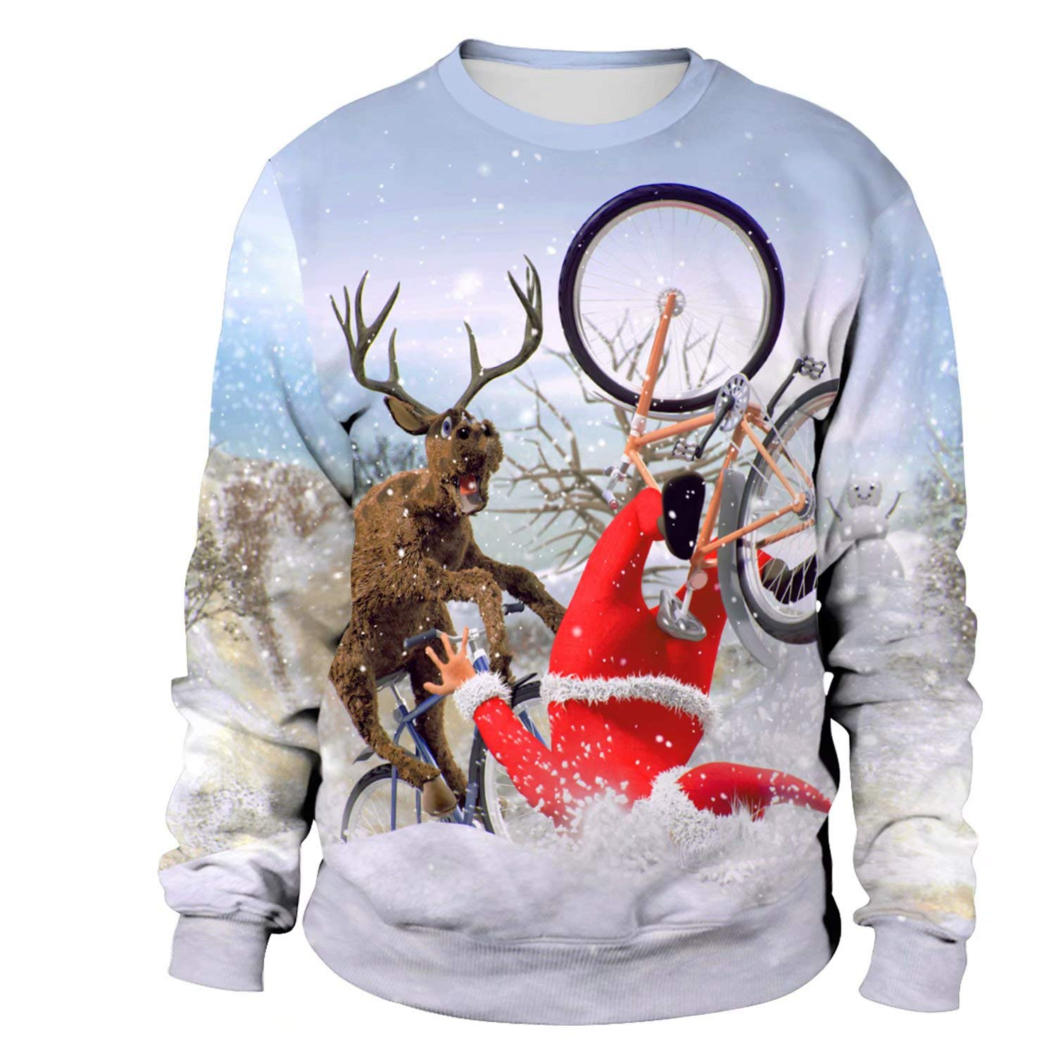Unisex Ugly Christmas Novelty Sweater 3D Print Design Sweatshirt Men Women Novelty Sweater 3D Print Design Funny Xmas Pullover Crewneck//Hoodie