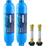 FINVIE RV Inline Water Filter with Flexible Hose Protector, Mostly Reduces Bad Taste, Odors, Chlorine, Leadand and…