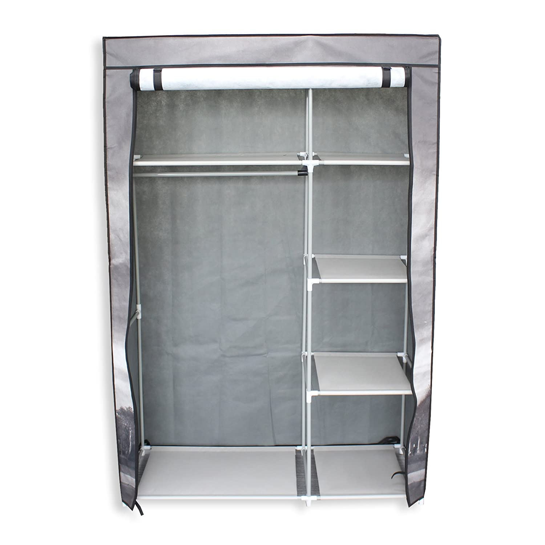 Amazon.com: EBS Portable Non Woven Closet Canvas Wardrobe 5 Shelves Rack  Storage Hanger, Eiffel Tower: Home U0026 Kitchen