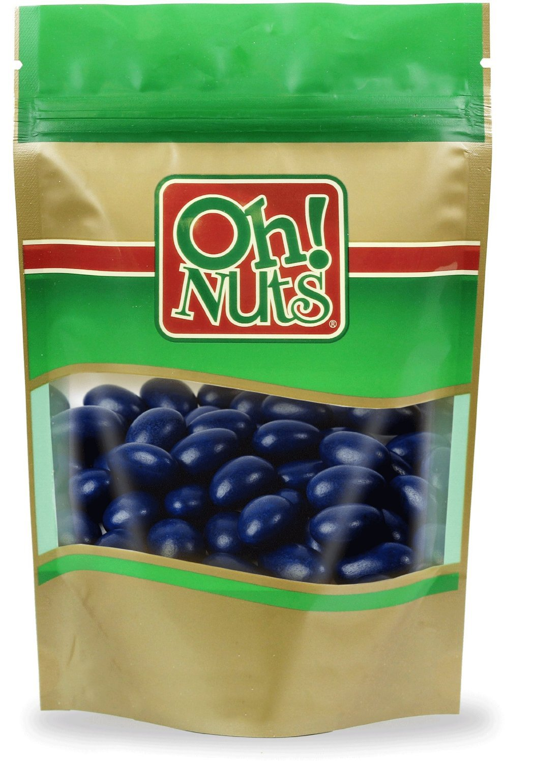 Jordan Almonds Navy Blue Candy, Candied Almonds Dark Blue- Oh! Nuts (5 LB Box Super Fine Jordan Almonds) by Oh! Nuts®