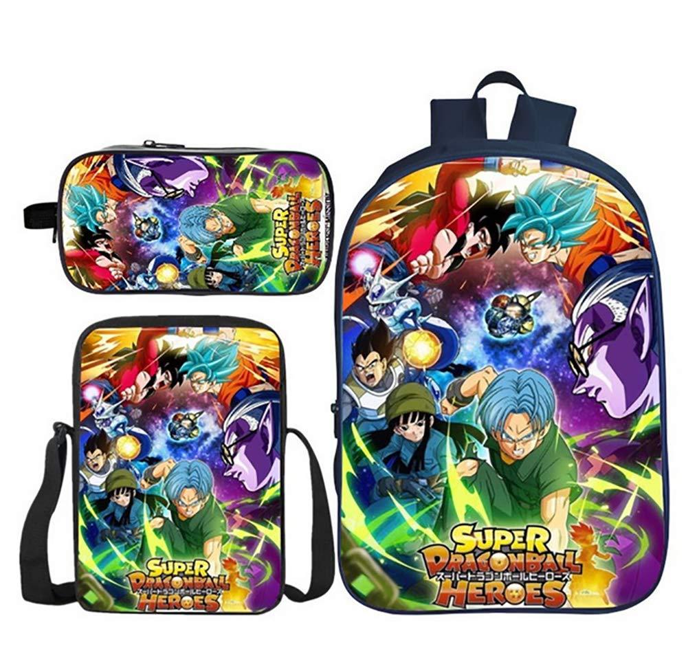 GHDE& 3PS Dragonball Z Goku Niños Set de Bolsas Escolares ...