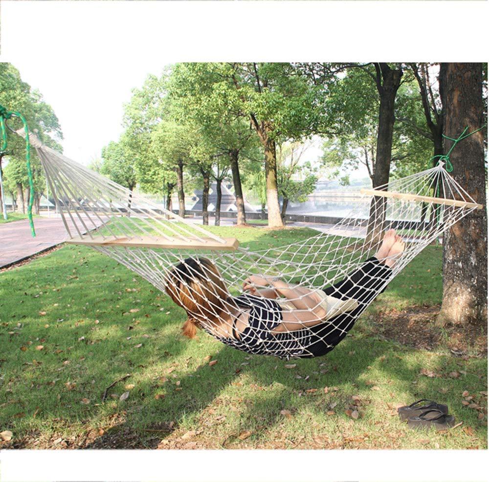 Y-YT Reise Camping Hängematte Outdoor-Baumwoll Seil Net weiße Baumwolle Einfachseil Schaukel Hängematte 200  80cm
