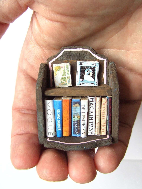 c9c93041d47 OOAK 1 24th Scale Dollhouse Miniature Art Deco Bookcase   Books - Vogue