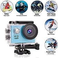 Sports1080P Full HD Su Geçirmez Aksiyon Kamerası