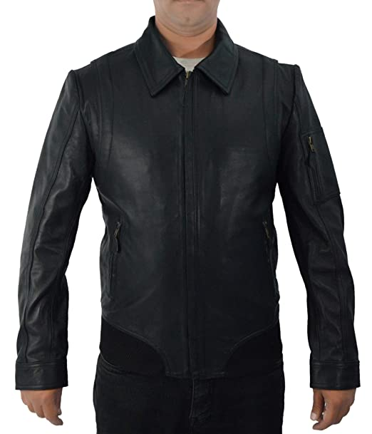 F&H Mens Synthetic Leather Faster The Rock Dwayne Johnson Bomber Jacket ...