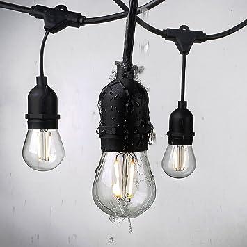 Leuchtmittel Weihnachtsbeleuchtung.25ft Draußen Lichterkette Dekorative Leuchtmittel Vintage Wasserdichte Außenbeleuchtung Outdoor Schnur Licht Innen Außen Beleuchtung