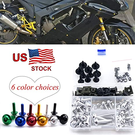 Complete Aluminum Fairing Bolt Kit Windshield Screws For Suzuki Katana 600 750 1998-2007