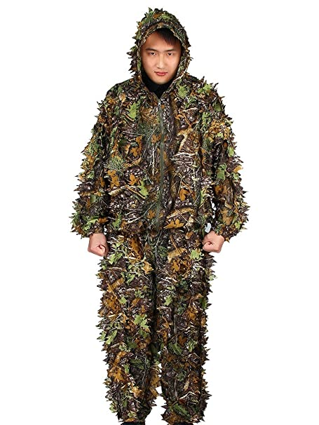 Amazon.com: evaliana 3d hoja de arce camuflaje Ghillie Suit ...