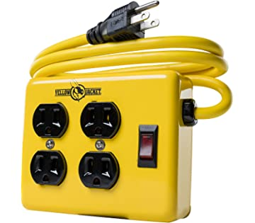 Swell Yellow Jacket 5148 Modern 8 Outlet Metal Power Block With 2 Usb Wiring Digital Resources Timewpwclawcorpcom