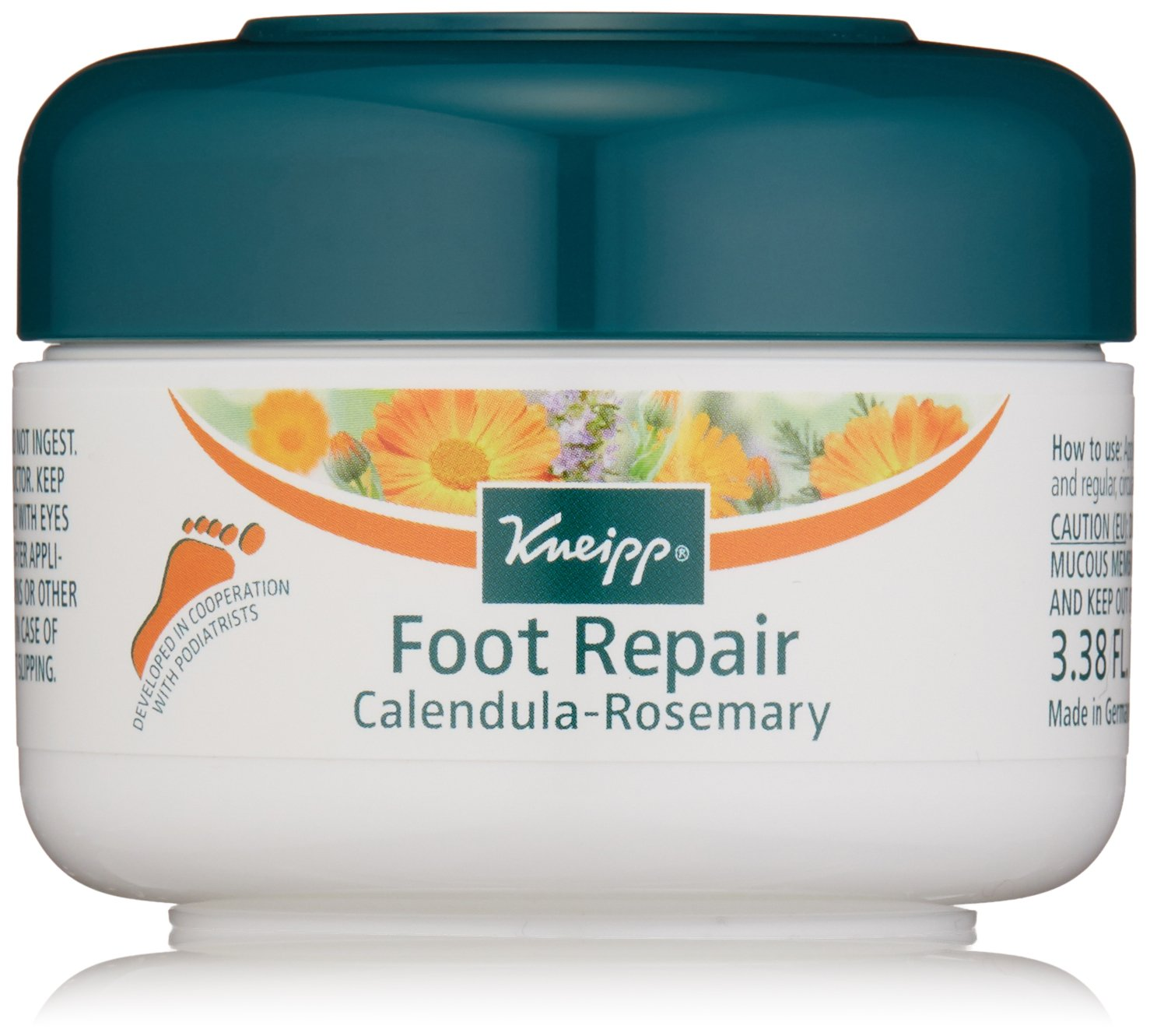 Kneipp Healthy Feet Foot Repair, Calendula Rosemary, 3.38 fl. oz.