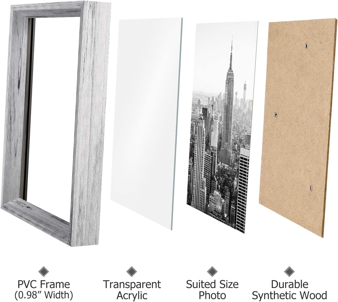 Family Picture Frames, Collage Picture Frame Set Corridor Family Photo Frames for Wall and Home 12 Pack