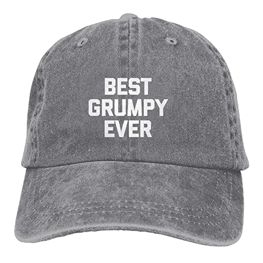 e8e21d37a80 LYuehappy Best Grumpy Ever Casual Fashion Sports Trend Adjustable Washed  Cap Fashion Cowboy Baseball Hat Ash
