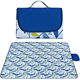 GIMEFIVE Large Waterproof Outdoor Picnic Blanket, Sand Proof and Waterproof Picnic Mat Tote for Camping Hiking Grass Travelling Dual/Triple Layers