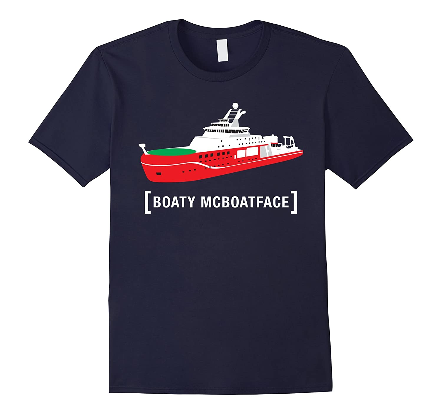 Boaty McBoatface Shirt RRS McBoat Ship Funny Trendy Gift-TD