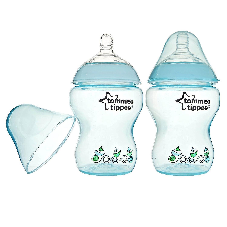 Amazon.com: Tommee Tippee Decorado Botellas – Boy – 9 oz – 2 ...